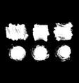 brush strokes paintbrush set grunge vector image vector image