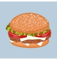 burger with meat tomato lettuce and cheese vector image vector image