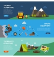 Camping Adventure Banner Set vector image vector image