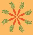 carrot mandala vector image vector image