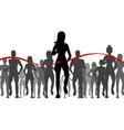 cartoon black characters people marathon runners vector image vector image