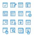 checklist flat line icon set vector image vector image