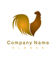 cock logo vector image vector image