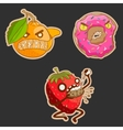 Collection sweets emotion food doughnut vector image