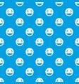 confused emotpattern seamless blue vector image vector image