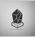cryptocurrency coin lisk lsk icon isolated on grey vector image
