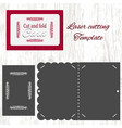 cut and fold card template vector image