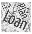 Deciding on the Loan you will Get Word Cloud vector image vector image