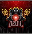 devil esport mascot logo vector image vector image