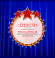 elegant template of diploma vector image