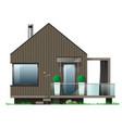 facade of a modern house with a terrace vector image vector image