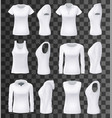 female clothes isolated mockups vector image