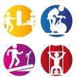 fitness gym design vector image vector image