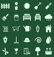 Gardening color icons on green background vector image vector image