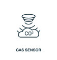 gas sensor outline icon thin line style from vector image vector image