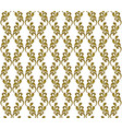 gold damask wallpaper vector image vector image
