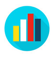 graph chart flat circle icon vector image