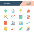 halloween icons flat design collection 53 vector image