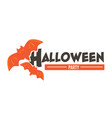 halloween party celebration banner with flying vector image vector image