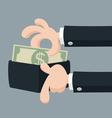Hand offering money vector image vector image