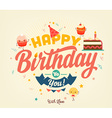 Happy Birthday Banner vector image vector image
