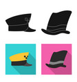 headgear and cap symbol vector image vector image
