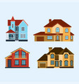 houses front view building vector image vector image