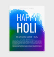 indian holi festival poster vector image vector image
