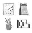 isolated object of furniture and work icon set of vector image vector image