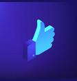 isometric social media marketing vector image vector image