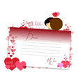 Letterhear for valentines cardinal vector image vector image