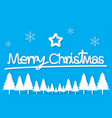 light blue christmas day paper postcard snowflake vector image vector image