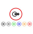logout rounded icon vector image vector image