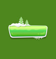 no text glossy web push button covered snow vector image vector image
