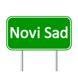 Novi Sad road sign vector image vector image