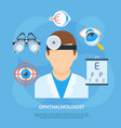 ophthalmologist doctor icon copyspace poster vector image