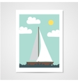 Poster with sailboat vector image vector image