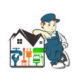 repair of housing master vector image