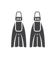 scuba diving flippers or fins icon vector image