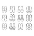 set of different types of womens shoes pair vector image