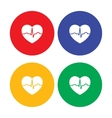 Set of flat simple heart icons vector image vector image
