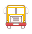 silhouette color sections of front view school bus vector image vector image
