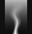 smoke wave on transparent background vector image vector image