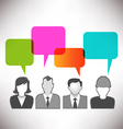 speech bubble people vector image vector image