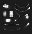 stadium lights set vector image vector image