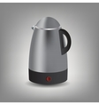Stainless steel electric kettle icon vector image