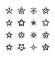 stars set on a white background vector image vector image