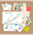 statistic documents colorful vector image vector image