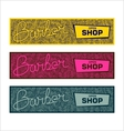 Stylized banners for Barbershop vector image vector image