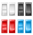 Switch set vector image vector image